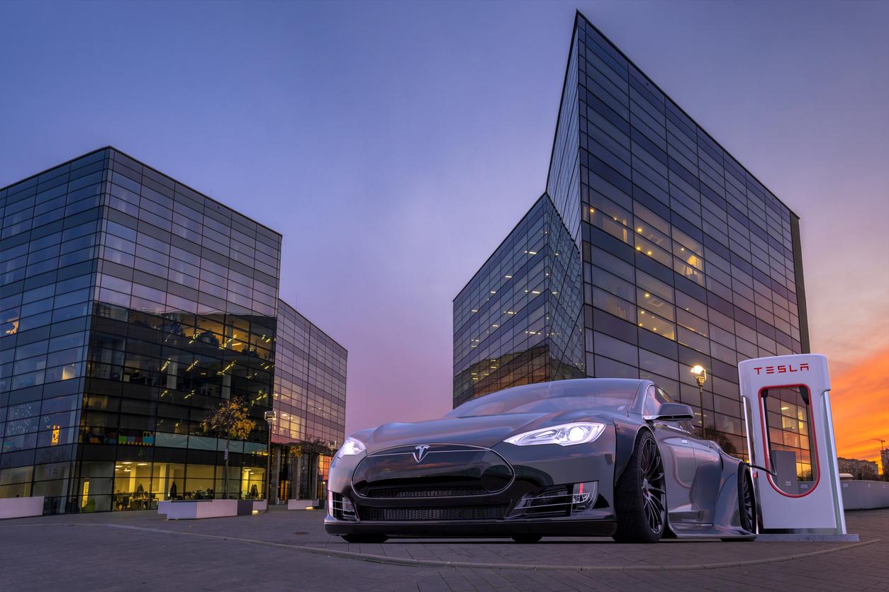 Tesla Shares Slide Despite Posting First Annual Profit